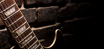 Fingerboard of guitar Stock Photography