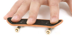 Fingerboard isolado no fundo branco Fotos de Stock Royalty Free