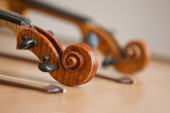 The fingerboard  of a violin Royalty Free Stock Photography
