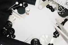 fingerborg för sömnad för bomullssatsvisare Arkivbild