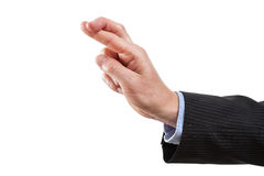 Fingeres cruzados Foto de archivo libre de regalías