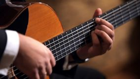 Fingeres del guitarrista almacen de metraje de vídeo