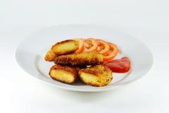Fingeres del pollo frito Imagen de archivo libre de regalías
