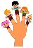 Fingerfamilj Fotografering för Bildbyråer
