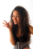 fingerflickan visar barn Royaltyfri Foto
