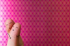 Fingerfolkförälskelse Royaltyfria Foton