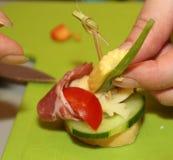 Fingerfood nella creazione Fotografia Stock