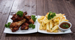 Fingerfood on a plate Stock Images