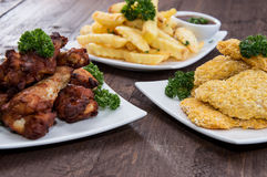 Fingerfood on a plate Royalty Free Stock Images