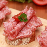 Fingerfood with salami Royalty Free Stock Photo
