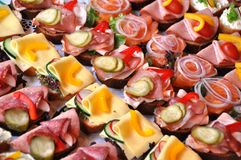 Fingerfood sandwiches Stock Images