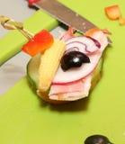 Fingerfood in verwezenlijking Stock Afbeelding