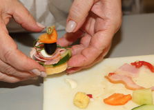 Fingerfood w tworzeniu Zdjęcie Stock