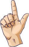 fingergesten hands en som visar Arkivbild
