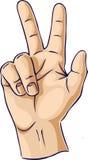 fingergesthänder som visar två Royaltyfria Foton