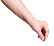 Fingergriff Stockbild