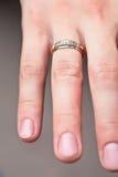 fingerhandcirkel Fotografering för Bildbyråer
