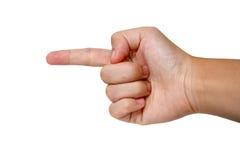 Fingerkommandot Royaltyfri Foto