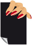 fingerkvinna royaltyfri illustrationer