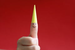 Fingerlächeln Lizenzfreie Stockfotos