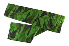 Fingerless sleeve in green camouflage patterns to cover and prot. Stretch and folded fingerless sleeve in green camouflage patterns to cover and protect arm from Royalty Free Stock Photo