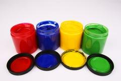 fingermålarfärger Arkivfoton
