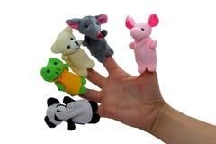 Fingermarionetten Stockfotografie