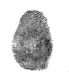 Fingermark royalty-vrije stock foto