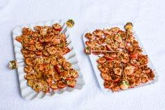 Fingermat för sund mat Arkivbilder