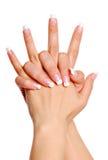 Fingernagel Stockbild