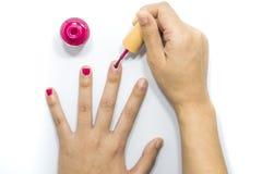 Fingernagelmalerei für bilden lizenzfreies stockfoto