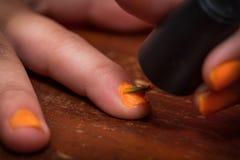 Fingernail Close Up Stock Photo