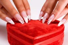 Fingernail cosmetic Stock Photos