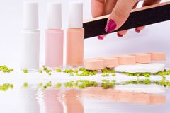 Fingernail cosmetic Stock Photography