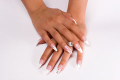 Fingernail cosmetic Royalty Free Stock Photography