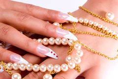 Fingernail cosmetic Royalty Free Stock Photo
