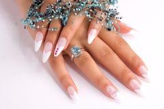 Fingernail cosmetic Stock Image