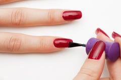 Fingernail service Stock Image