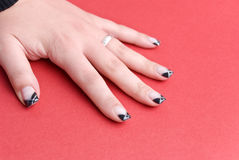 Fingernails of the 19-year-old girl Royalty Free Stock Photo