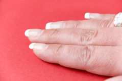 Fingernails of the 40-year-old woman, of course-wi Stock Images