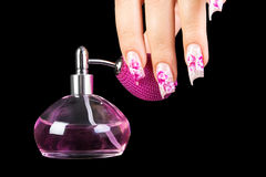 Fingernails and parfum Royalty Free Stock Image