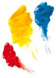 Fingerpaint. Colors (cmyk to rgb Royalty Free Stock Image