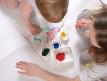 Fingerpainting Royalty Free Stock Photo