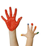 Fingerpainting Stock Image