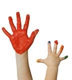 Fingerpainting fotografering för bildbyråer