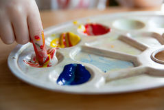 Fingerpainting Royalty Free Stock Photography