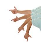 FingerpistolDraw Royaltyfri Foto