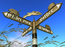 Fingerpost Royalty Free Stock Photos