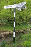 Fingerpost numerato ristabilito di Westmoreland immagine stock