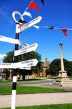 Fingerpost in village centre, Broadway. Stock Image